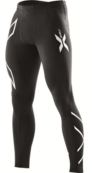 2XU M's Compression Tights Black/Black (Silver logo)